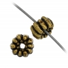 Beads Metalized Rigged Rondelle (Flat Round) 2.5x5mm Gold